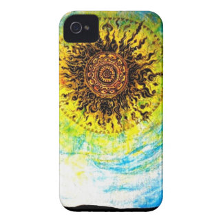 Trippy Sun iPhone 4 Case