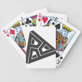 Trippy Triangle Bicycle Playing Cards
