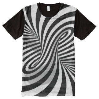 Trippy Twisted Spiral Optical Illusion All-Over Print T-Shirt