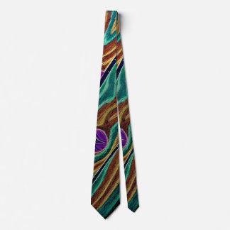 Trippy Wooden Boards Tie