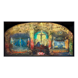 Triptych Grail by Anna May  -  Rudolf Steiner Poster