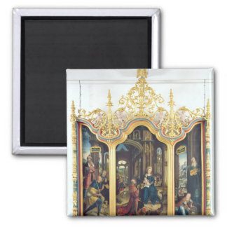 Triptych of the Adoration of the Infant Christ Refrigerator Magnet