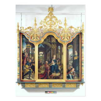 Triptych of the Adoration of the Infant Christ Postcard