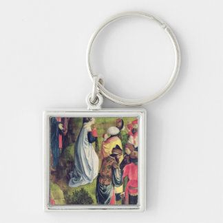 Triptych of the Crucifixion Silver-Colored Square Key Ring