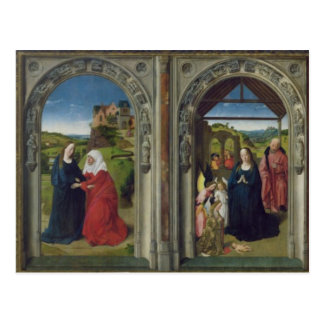 Triptych showing the Annunciation Postcard