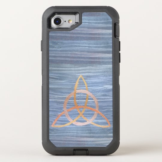 Triquetra | Blue Gold Celtic Trinity Knot OtterBox Defender iPhone 8/7 Case