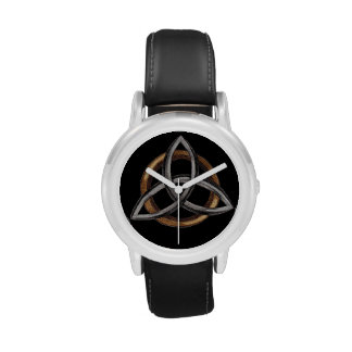 Triquetra (Brown/Silver) Wristwatches
