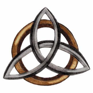Triquetra (Brown/Silver) Photo Sculpture Badge