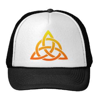 Triquetra/Celtic Trinity Knot Mesh Hat
