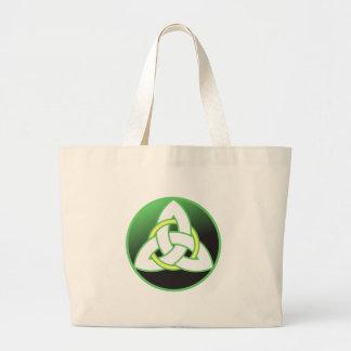 Triquetra Celtic Trinity Knot Jumbo Tote Bag