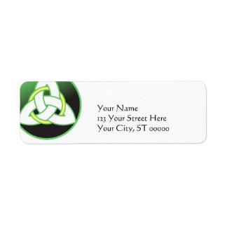 Triquetra Celtic Trinity Knot Return Address Label
