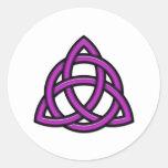 Triquetra Circle Purple Round Sticker