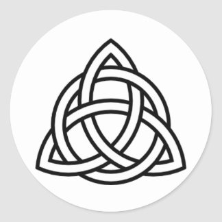 Triquetra Classic Round Sticker