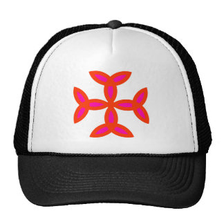 Triquetra Cross in Bright Red Hot Pink Trucker Hat