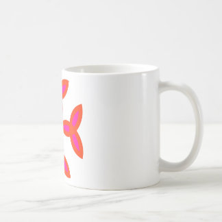 Triquetra Cross in Bright Red Hot Pink Coffee Mugs