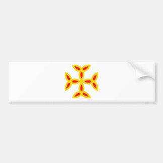 Triquetra Cross in Golden Yellow Orange Red Car Bumper Sticker