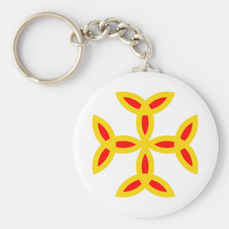 Triquetra Cross in Golden Yellow Orange Red Keychains