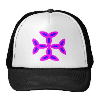 Triquetra Cross in Lilac Pink Bold Blue Mesh Hats