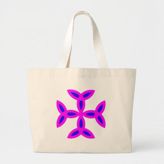 Triquetra Cross in Lilac Pink Bold Blue Jumbo Tote Bag