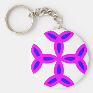 Triquetra Cross in Lilac Pink Bold Blue Key Chain