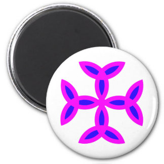 Triquetra Cross in Lilac Pink Bold Blue Refrigerator Magnets