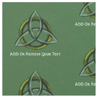 Triquetra (Green) Fabric