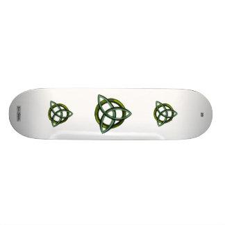 Triquetra (Green) Skate Board
