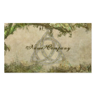 Triquetra Natural Business Card Templates