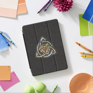 Triquetra Pentacle on Black iPad Pro Cover