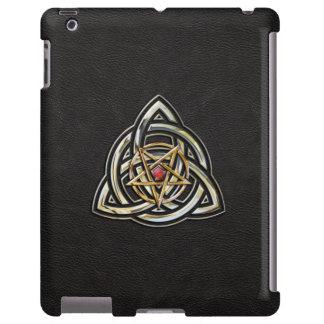 Triquetra Pentagram on Black