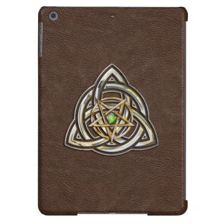 Triquetra Pentagram on Brown iPad Air Cover