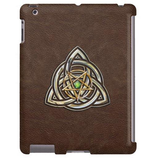 Triquetra Pentagram on Brown