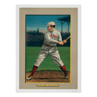 Tris Speaker Red Sox Great Baseball 1911 Poster