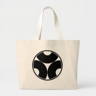 Trisected snake eyes in threadlike ring large tote bag