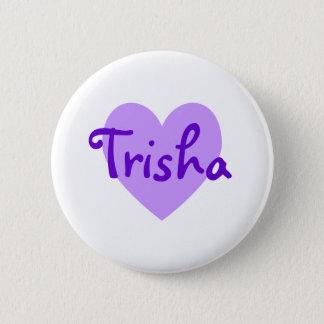 Trisha in Purple 6 Cm Round Badge