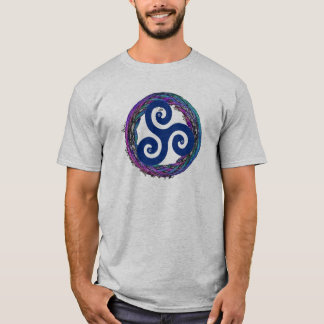 Triskele Celtic Enso Design T-Shirt