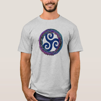 Triskele Celtic Interwoven Enso Design T-Shirt