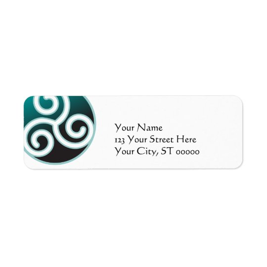Triskele Celtic Spiral Return Address Label