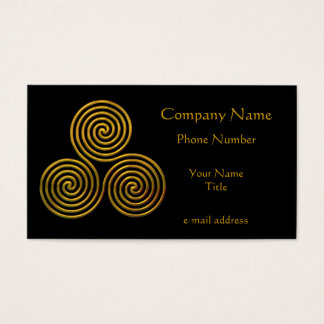 Triskele-gold Business Card