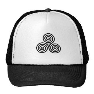 Triskele symbol,pagan,for,celtic,earth,sea,sky cap