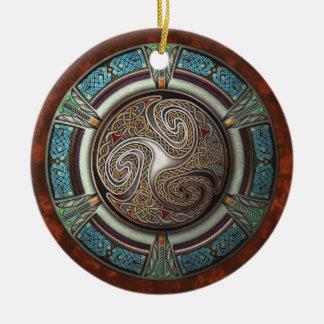 Triskelion  Pendant/Ornament Ceramic Ornament