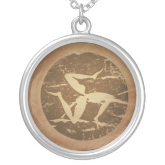 Triskelion Victory Progress Greek Magic Charms Silver Plated Necklace