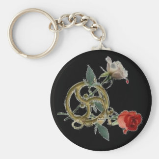 triskell roses black key ring