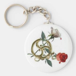 triskellion roses key ring