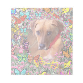Trista the Rescue Dog in Butterflies Note Pad