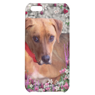 Trista the Rescue Dog in Flowers Cover For iPhone 5C
