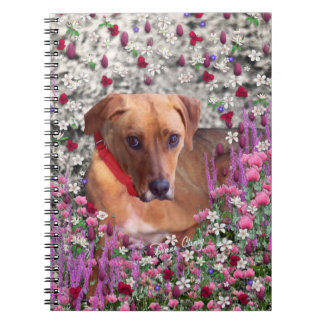 Trista the Rescue Dog in Flowers Spiral Note Books