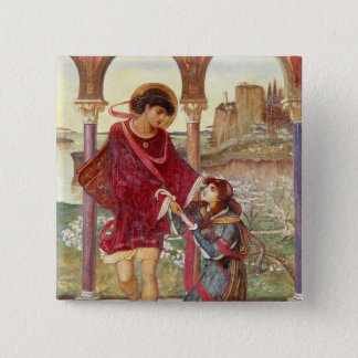 Tristan and Iseult, 1876 15 Cm Square Badge