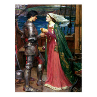 Tristan and Isolde by John William Waterhouse Postcard