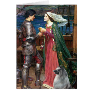 Tristan and Isolde - Keeshond (C) Card